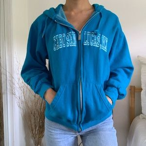 Tops - Cabo San Lucas Mexico Blue ZIP Up Sweatshirt